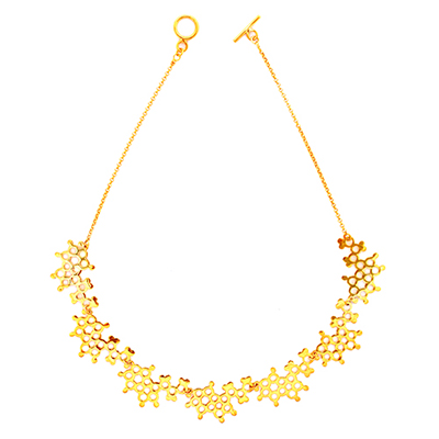 serotonin necklace gold