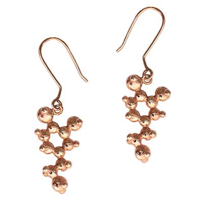Dopmaine Earrings rose gold