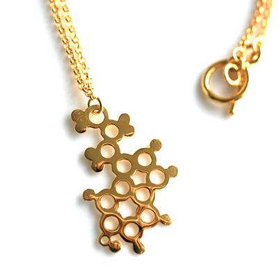 Serotonin Pendant gold